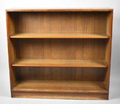 A Mid 20th Century Mahogany Two Shelf Open Bookcase, 95cm Wide