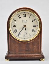 A Modern Mahogany Mantle Clock by Comitti of London, with Battery Movement, 20cm High