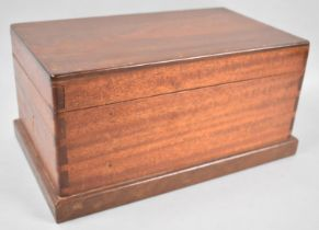 A Late Victorian/Edwardian Mahogany Games Box with Fitted Interior for Two Packs Cards, Pieces