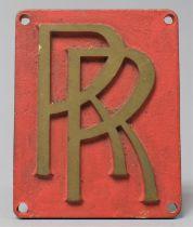 A Cast Brass Rolls Royce Rectangular Plaque, 10.5x8cm