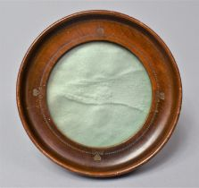 An Early 20th Century Easel Back Photo Frame with Shamrock Decoration, 12cm Diameter
