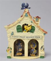 A Vintage American Disney Productions Weather House Weather Forecaster with Mickey Mouse and