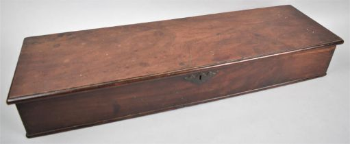 A 19th Century Mahogany Box with Hinged Lid to Two Division Interior, 61cms Wide, 18.5cms Deep,