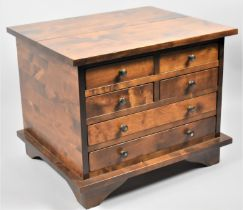 A Modern Laura Ashley Hardwood Small Chest of Four Short and Two Long Drawers, 61cm x 50cm x 49cm