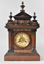 """A Late 19/Early 20th Century """"Bugler"""" Mantel Alarm Clock By Thomas Fattorini, with Inner Paper"""