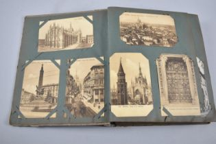 A Late 19th/Early 20th Century Postcard Album with Coloured and Black and White Postcards