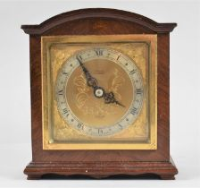 A Mid 20th Century Elliot Mantel Clock with Gilt Dial and Slivered Chapter Ring, Working Order, 15.