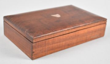 A Rectangular Australian Hardwood Box, The Hinged Lid with Inlaid Yellow Metal Outline of