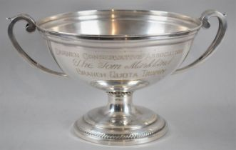 A Large Silver Plated Two Handled Trophy Engraved for the Darwin Conservative Association, the Tom