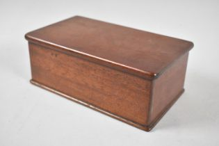 A Late Victorian/Edwardian Mahogany Box with Hinged Lid, 21.5cm Wide