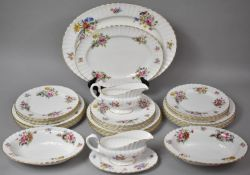 A Collection of Royal Worcester RoanokePattern Dinnerware's to comprise Large Platter, Smaller