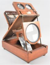 A Late Victorian Mahogany Table Top Stereoscopic Slide and Postcard Viewer by Dollond, Ludgate Hill,