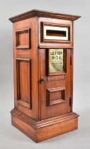 A Reproduction Country House Wooden Letter Box with Brass Mounts, 50cms High