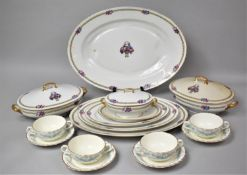 A Part Set of Limoges Dinnerwares to Comprise Graduated Oval Platters, Two Lidded Tureens and a