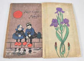 Two Late Victorian/Edwardian Postcard Albums Containing Mixed Postcards, Greeting Cards, Musical