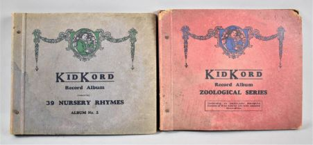 Two Albums of Children Nursery Rhyme Records by Kidkord, Nursery Rhymes No.2 and Zoological