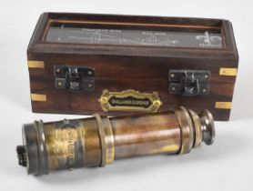 A Reproduction Cased Miniature Three Fold Telescope in the Manner of Dollond of London, Case 16.5cms