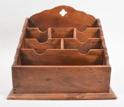 A Reproduction Far Eastern Stationery Rack, 38cms Wide and 32cms High