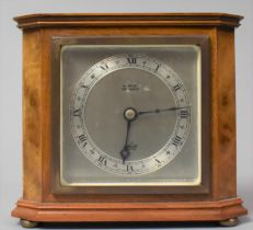 A Mid 20th Century Elliot Walnut Cased Mantle Clock, Working Order, 16cm wide and 14cm high