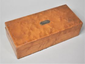 "An Edwardian Maple Wood Box with Inscribed Escutcheon, ""Osbourne 1874-1908"", 27.5cm wide"