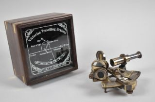 A Reproduction Cased Model of a Victorian Travelling Sextant
