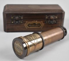 A Reproduction Wooden Cased Royal Telescope, As Made by Dollond