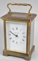 A Mid 20th Century French Brass Carriage Clock with Seven Jewel Movement