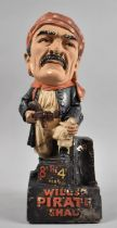 A Mid 20th Century Hand Painted Plaster Advertising Pipe Rest for Wils's Pirate Shag, 36cms High