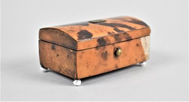 A Miniature Tortoiseshell Covered Dome Topped Box, Front Veneer AF, 6.5cms Long