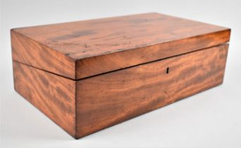 A 19th Century Mahogany Writing Slope with Fitted Interior, 39cms Wide