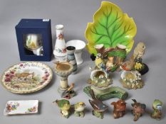 A Collection of Various Ceramics to comprise Carlton Ware Leaf Dish, Royal Albert Four Seasons