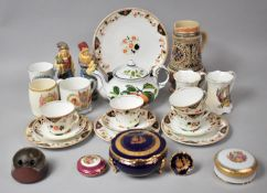A Collection of Various English and Continental Ceramics to comprise Pair of Glazed Terracotta