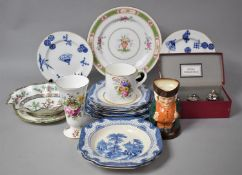 A Collection of Various Ceramics to comprise Set of Adams Landscape Shallow Bowls and Plates, Pair