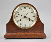 A Modern Mahogany Cased Mantle Clock by Woodford, Battery Movement, 23cm wide, Working