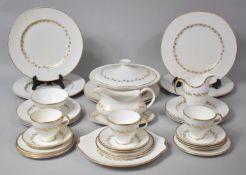 A Part Royal Albert Symphony Pattern Tea Set to comprise Cake Plate, Three Cups, Sugar Bowl, Milk,