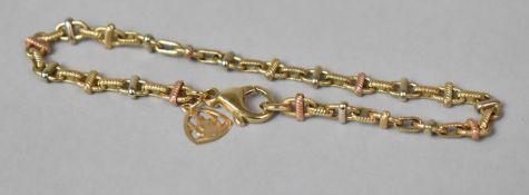 An Italian 9ct Gold Horse Bit Bracelet, 7.3gms
