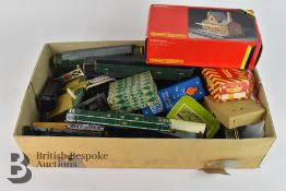 One Box of 00 Gauge Train Paraphenalia