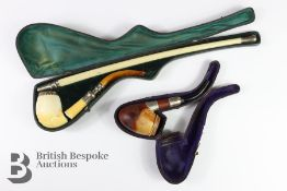 Meerschaum Pipe and One Other