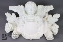 Large Decorative Plaster Model of an Angel