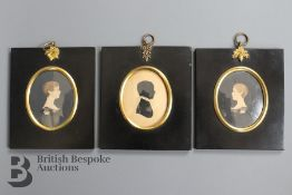 Three Georgian Portrait Silhouettes
