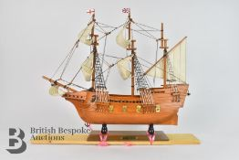The Mary Rose and The Mayflower Model Ships