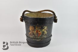 A 19th Century Fire Bucket with Royal Coat of Arms