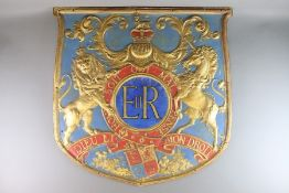 Large Moulded Royal Coat of Arms
