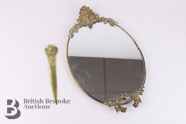 Small Mirror and Brass Letter-Knife