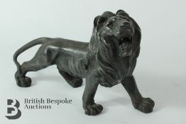 Bronze Figure of Prowling Lion