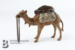 Cold Painted Bronze Camel Pincushion