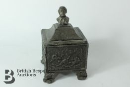 18th Century Lead Tobacco Jar