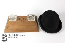 Windsor Forest Oak Inkwell and Felt Bowler Hat