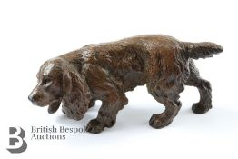 Cast Brass Figure of a Water Spaniel