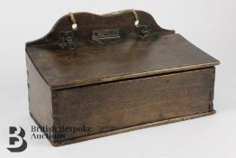 George III Birch Wood Candle Box
